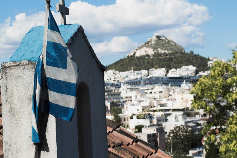 Greek Flag Landscape